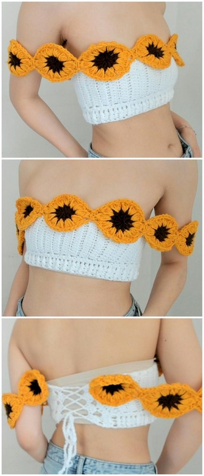 crochet best crop top, crochet tank top