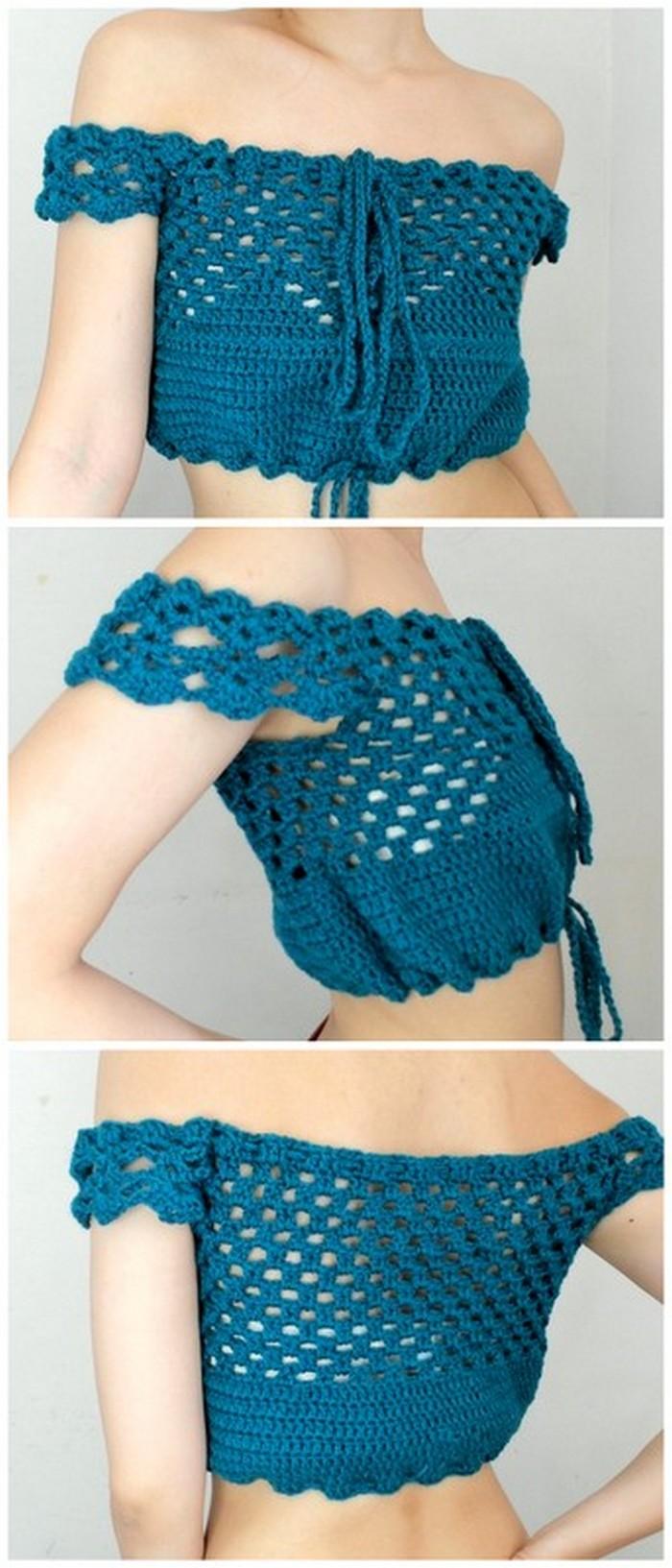 crochet crop top, crochet tank top