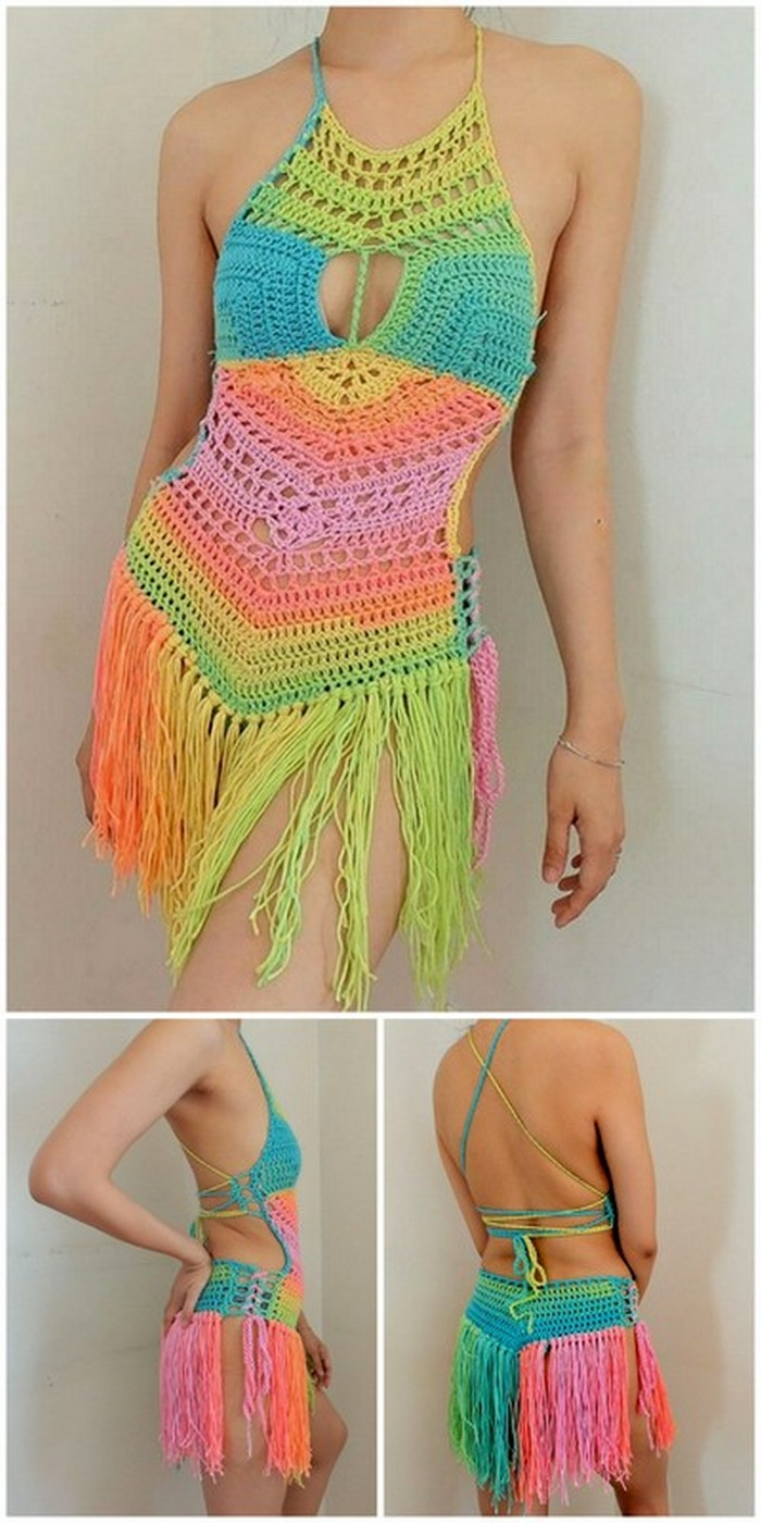stylish crochet festival fringe