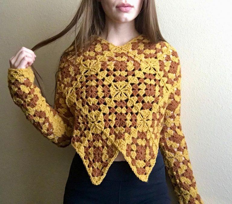 Crochet A Granny Square Sweater