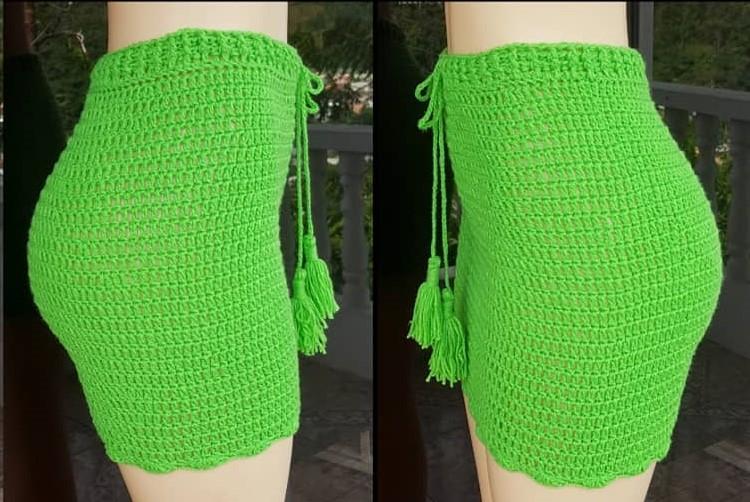 Crochet High Waisted Shorts