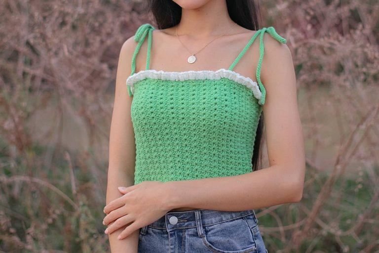 Easy Crochet Ruffled Crop Top