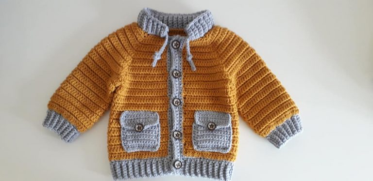 How to crochet boys jacket with pockets
