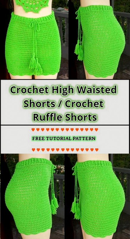 Crochet High Wasted Shorts