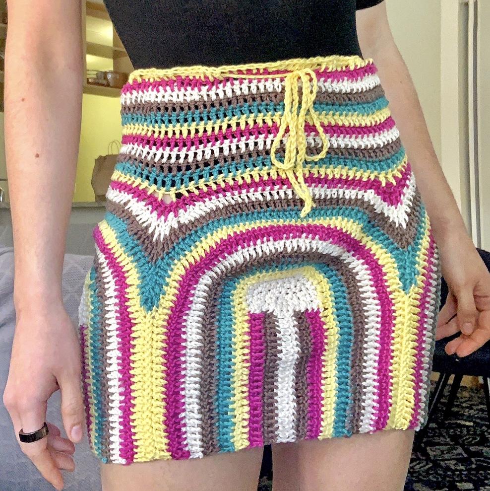 Crochet Mini Skirt Tutorial