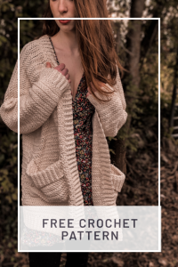 Crochet Pocket Cardigan With Buttons