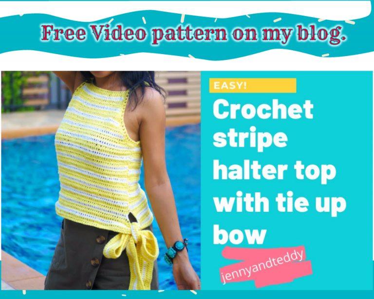 crochet striped halter top
