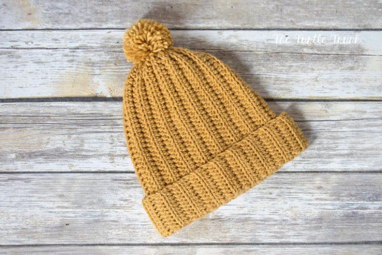 Easy Breezy Bun Beanie Crochet Pattern