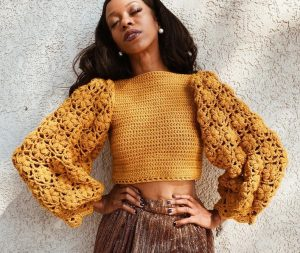 Marigold Sweater Puff Stitch Tutorial