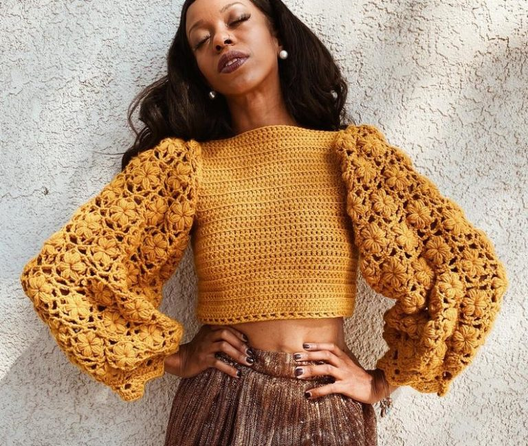 Marigold Sweater Puff Stitch Tutorial