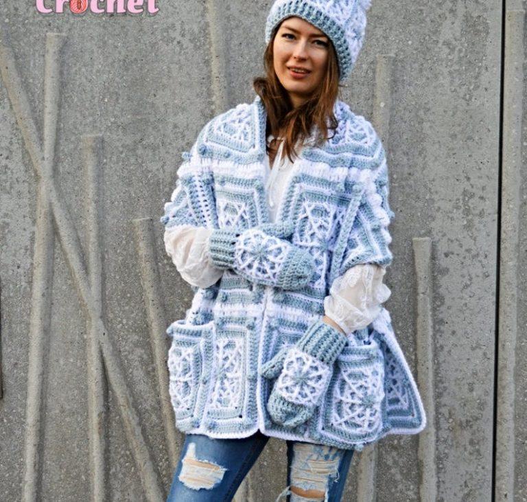 Crochet Snowflake Pocket Shawl