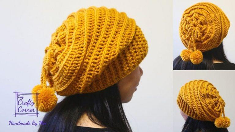 Crochet a Slouchy Hat with Pom Pom