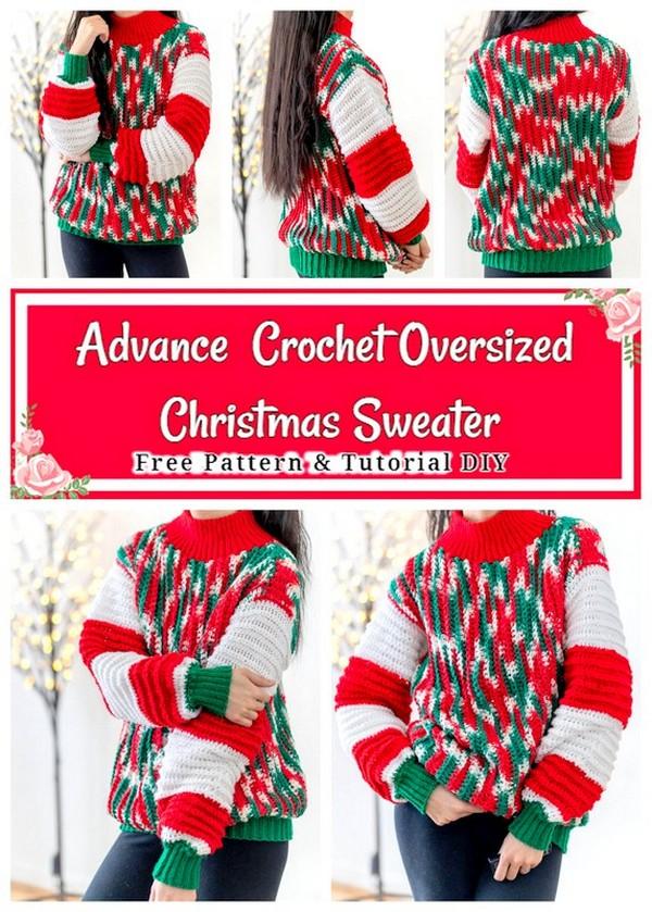 Crochet Oversized Christmas Sweater