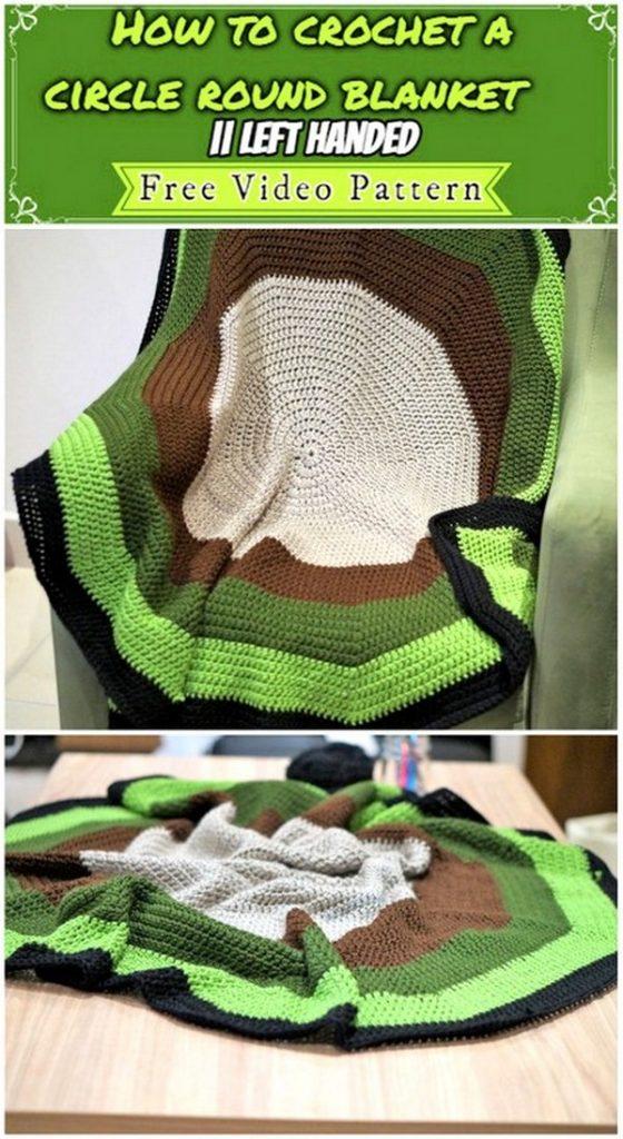 round crochet blanket pattern