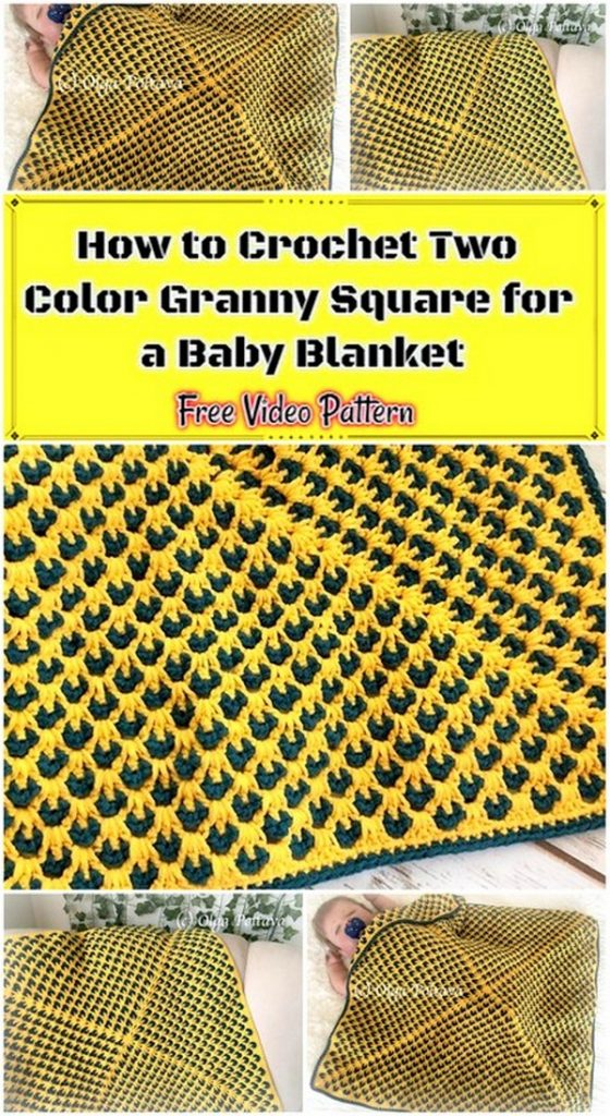 How to Crochet Two Color Granny Square for a Baby Blanket