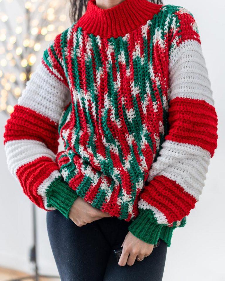 Crochet Oversized Christmas Sweater Free Crochet Pattern Basketweave CardiganSweaters Herringbone Sweaters Crochet Fringe Cardigan Long Sleeve Turtleneck Sweaters