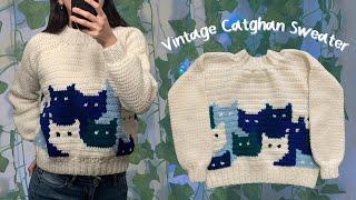 Nice Vintage Catghan Sweater