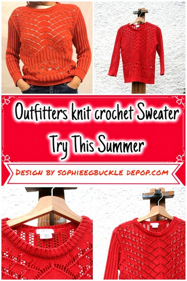 Outfitters knit crochet Sweater