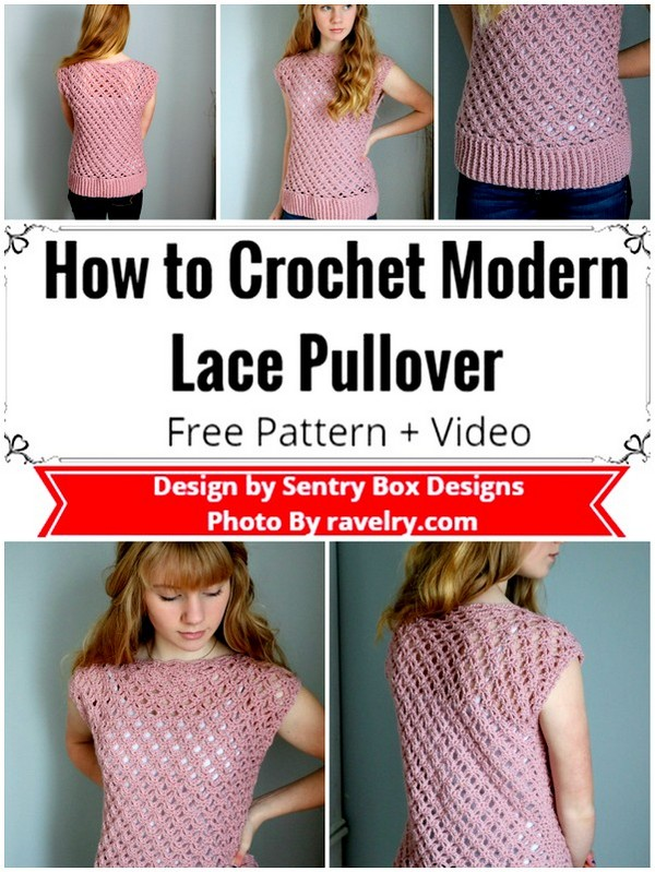 How to Crochet Modern Lace Pullover