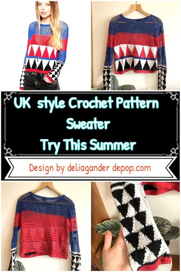UK style Crochet Pattern Sweater