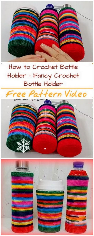 Crochet Water Bottle Holder Covers Patterns