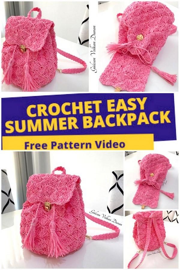 crochet summer backpack