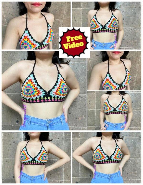 Multicolor Blouse Free Crochet Pattern