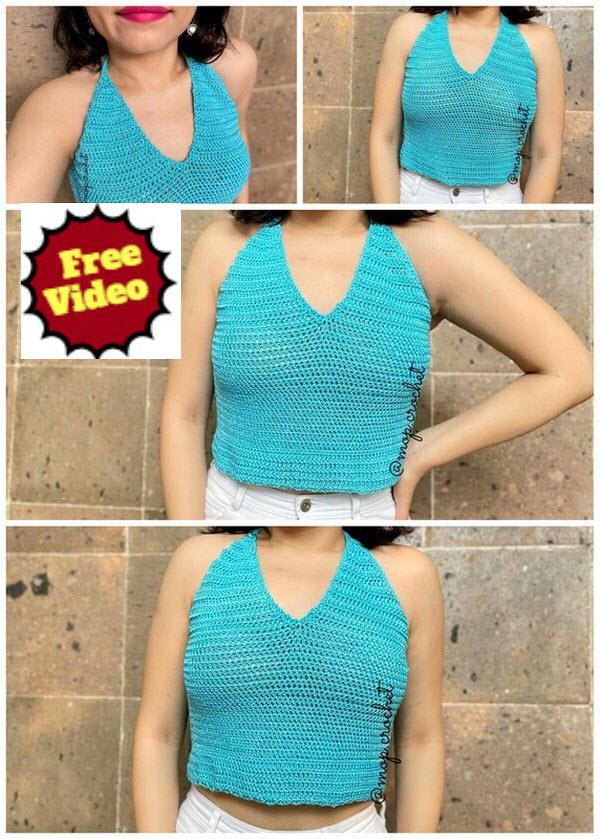 Free Crochet Pattern Of Crop Top