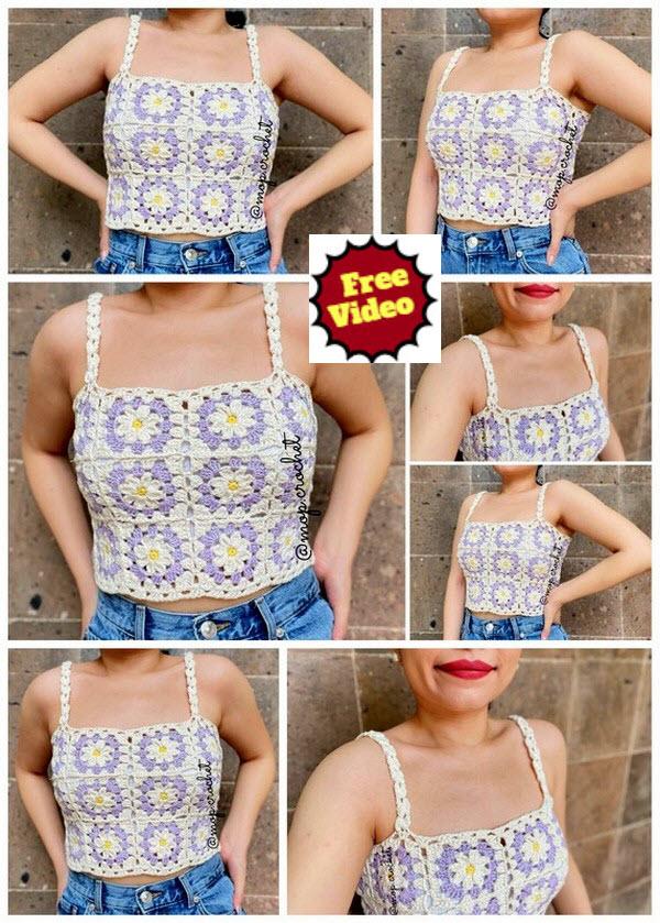Summer Flower Top Crochet Pattern